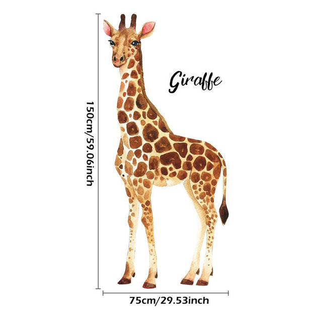 Patch Giraffe Nursery & Kids Room Wall Sticker Size