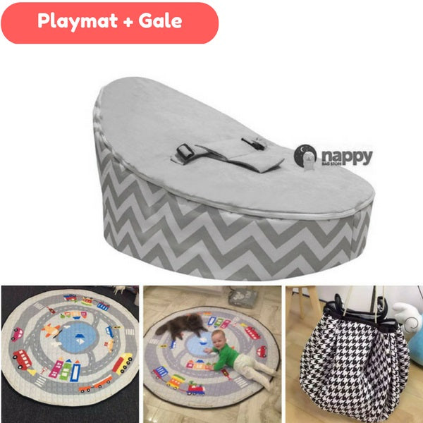 On the Move Playmat + Baby Bean Bag