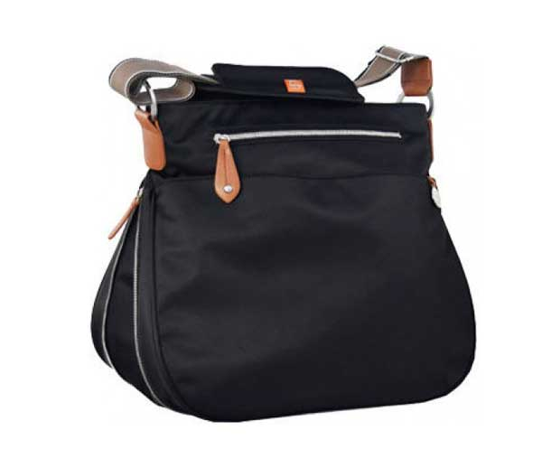 PacaPod Portland Black Nappy Bag
