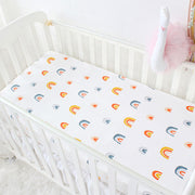 Rainbow Fitted Baby Cot Sheet