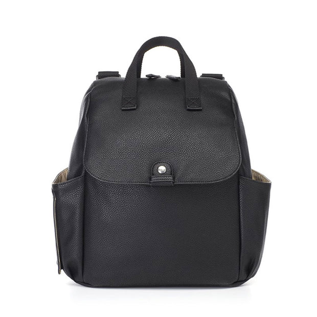 Robyn Convertible Black Nappy Bag Backpack Vegan Leather