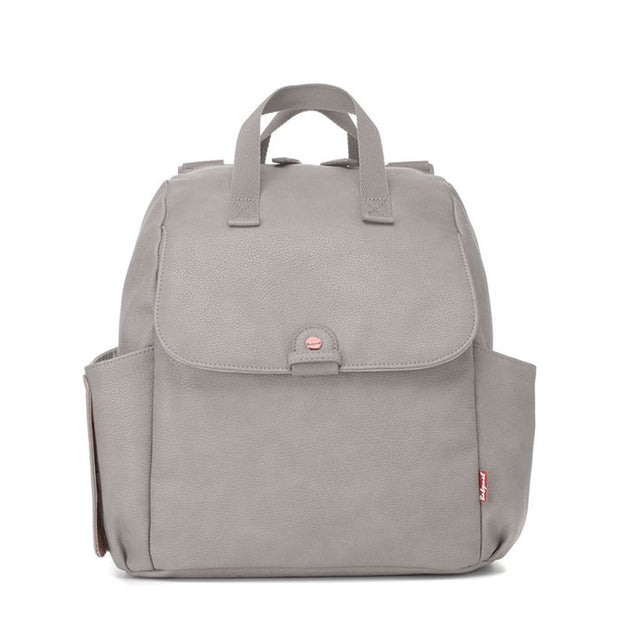 Robyn Convertible Pale Grey Nappy Bag Backpack Vegan Leather