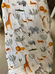 Safari Baby Swaddle Wrap close up