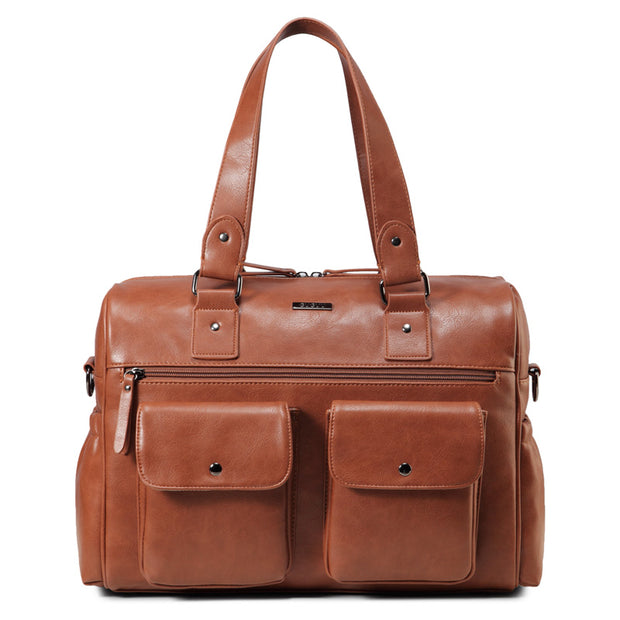 Sarah Carry All Tan Nappy Bag PU Leather