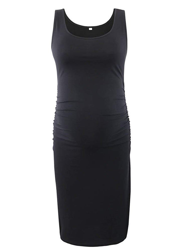 Serene - Black Sleeveless Maternity Dress
