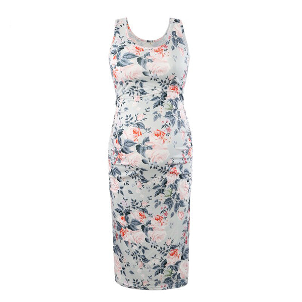 Serene - Floral Sleeveless Maternity Dress