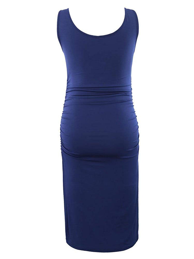 Serene - Navy Sleeveless Maternity Dress