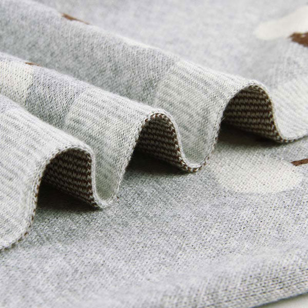Sheep Grey Baby Blanket Side