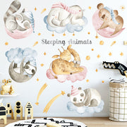 Sleeping Animals Baby Nursery Wall Sticker Main