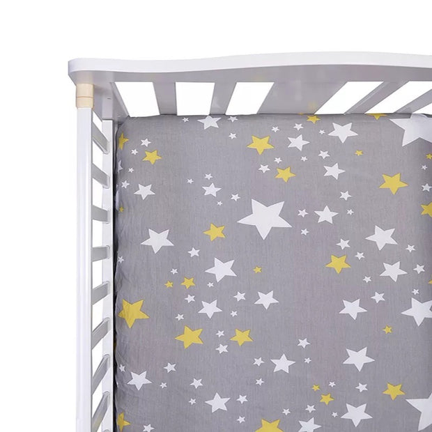 Stars Fitted Cotton Cot Sheet front