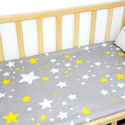 Stars Fitted Cotton Cot Sheet front view