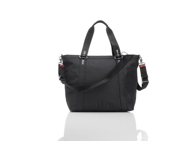 Storksak Cleo Black and Mini Fix Nappy Bag
