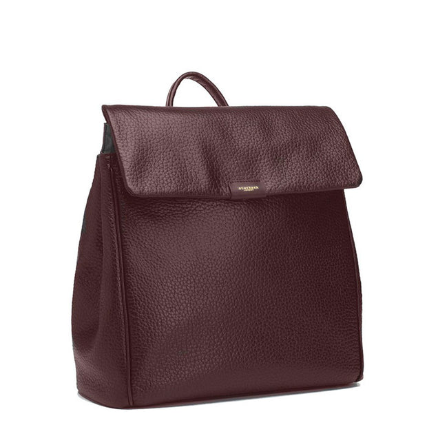 Storksak St James Leather Oxblood Nappy Bag Backpack