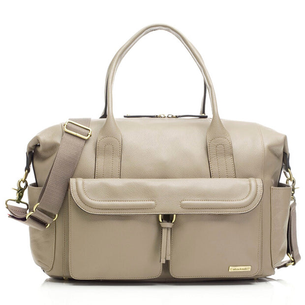 Storksak Charlotte Leather Nappy Bag