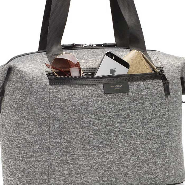 Stevie Luxe Grey Marl Scuba Nappy Bag