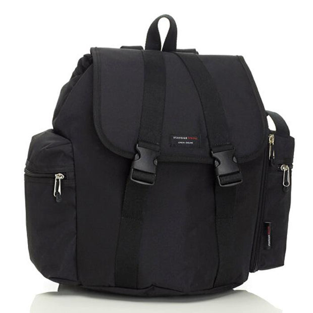 Storksak Travel Nappy Bag Backpack Black