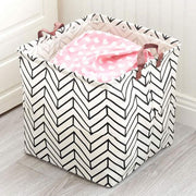Stripes Square Collapsible Canvas Toy Storage Box 1