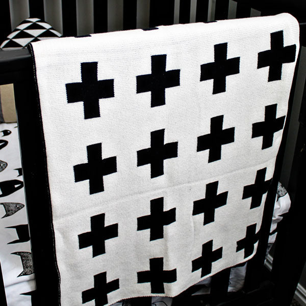 Swiss Cross Reversible Baby Blanket