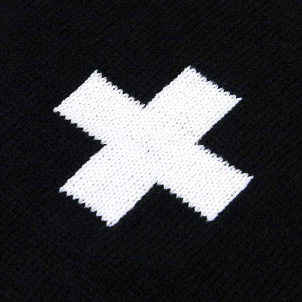 Swiss Cross Baby Blanket Closeup