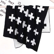 Swiss Cross Baby Blanket Hanging