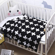 Swiss Cross Baby Blanket in Cot