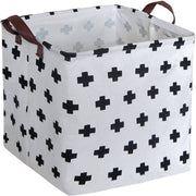 Swiss Cross Square Collapsible Canvas Toy Storage Box