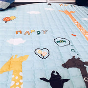 Tall Giraffes Baby Play Mat print closeup