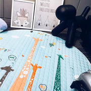 Tall Giraffes Baby Play Mat side view