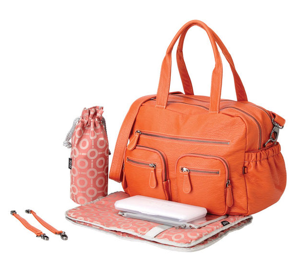 OIOI Faux Lizard Carry All Nappy Bag