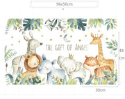 The Gift of Angel Wall Sticker size