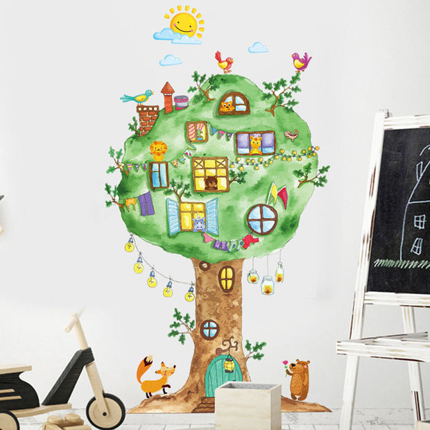 Tree House Baby Nursery Wall Sticker 2