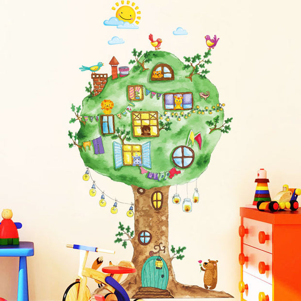 Tree House Baby Nursery Wall Sticker