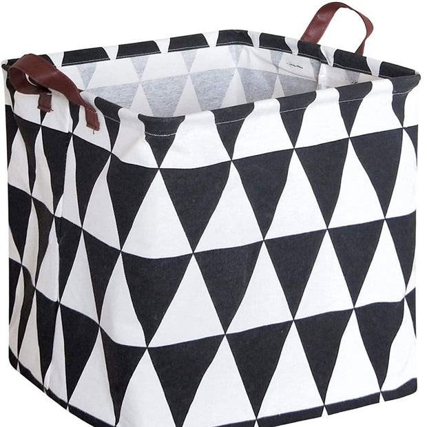 Triangle Square Collapsible Canvas Toy Storage Box