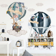 Twin Hot Air Ballons baby nursery Wall Sticker main image