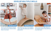 Varnished Kids Wooden Balance Board with multiple use