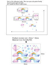 Watercolor Cloud Rainbow Wall Sticker size