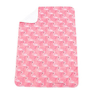 White Flamingoes Baby Blanket – Pink