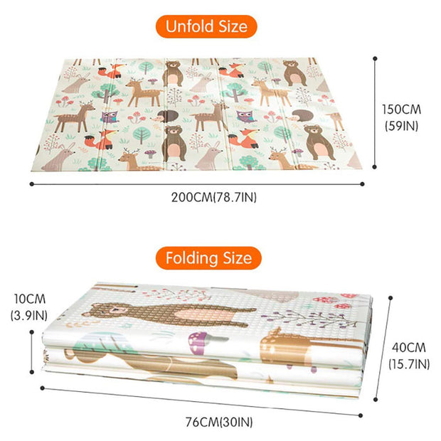 Woodland Animals Large Baby Play Mat