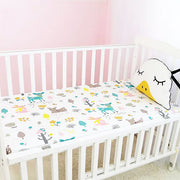 Woodland Animals Fitted Cotton Baby Cot Sheet