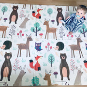 Woodland Animals Large Baby Play Mat Front