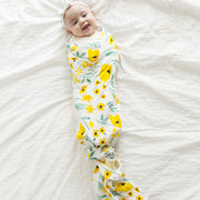 Yellow Flowers Baby Swaddle Wrap 120-120 cm