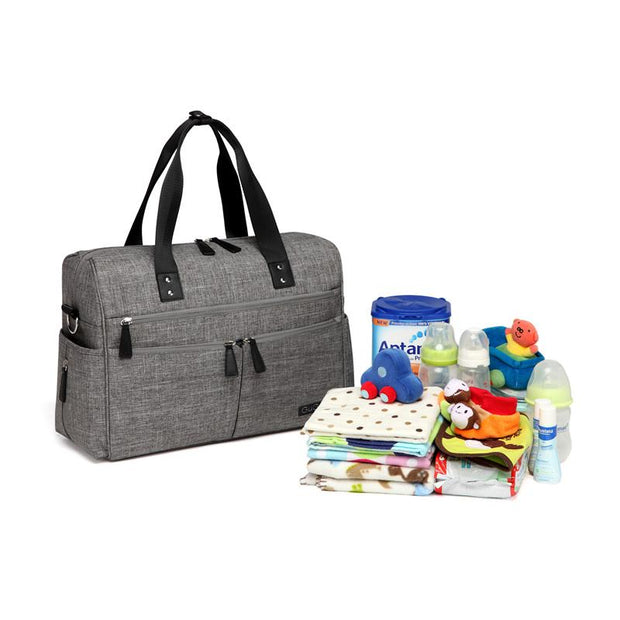 Addie All In One Nappy Bag - Grey
