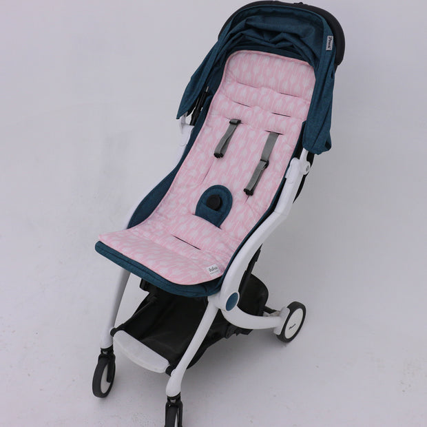Pink Arrows Pram liner in pram