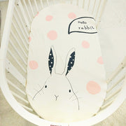 cute bunny baby cot sheet