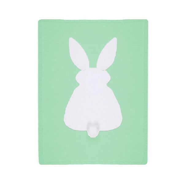 Long Ear Bunny Baby Blanket - Mint