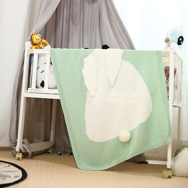 Long Ear Bunny Baby Blanket – Mint