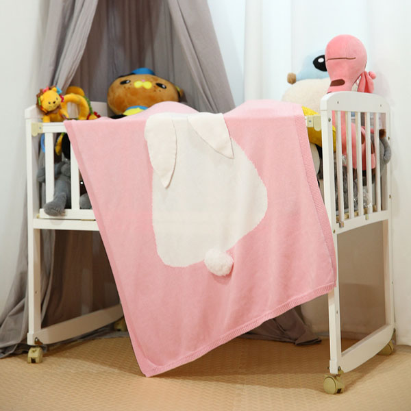 Long Ear Bunny Baby Blanket - Pink