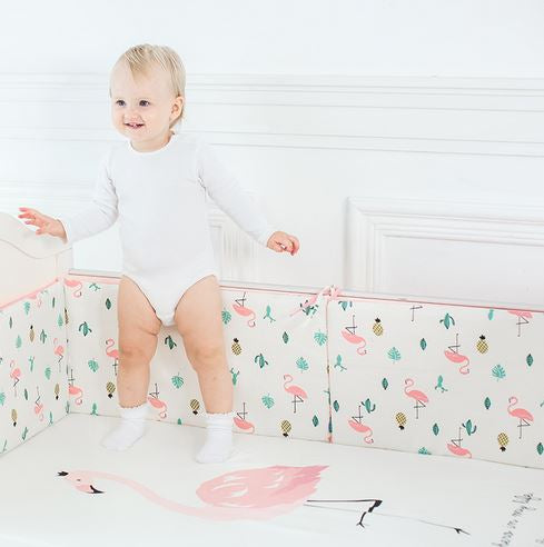 Pink Flamingo Cot Sheet