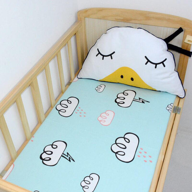 Rain & Clouds Cot Sheet