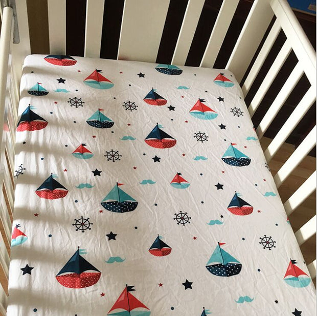 Sailing in the Sea Cot Sheet